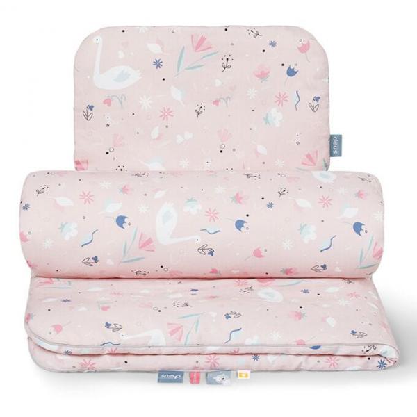 Blush swan baby komplet kołderka i poduszka