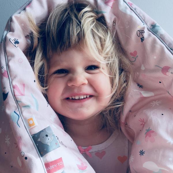 Blush swan junior komplet kołdra i poduszka